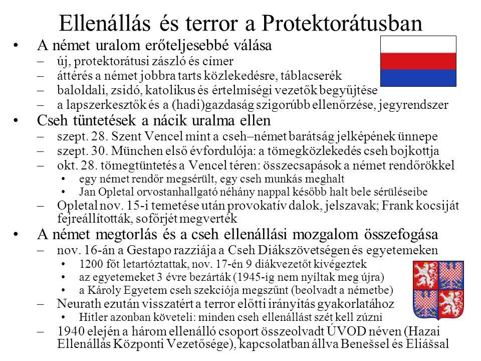 Ellenállás és terror a Protektorátusban