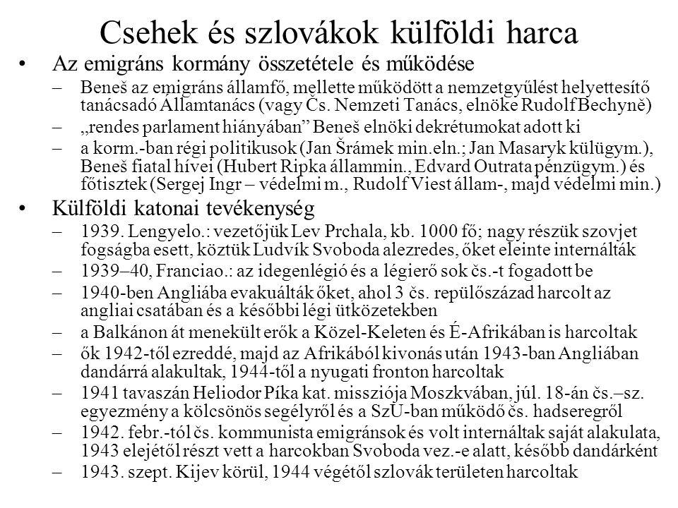 Csehek és szlovákok külföldi harca
