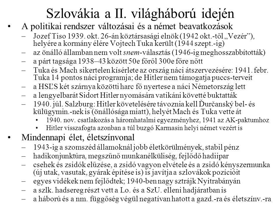 Szlovákia a II. világháború idején