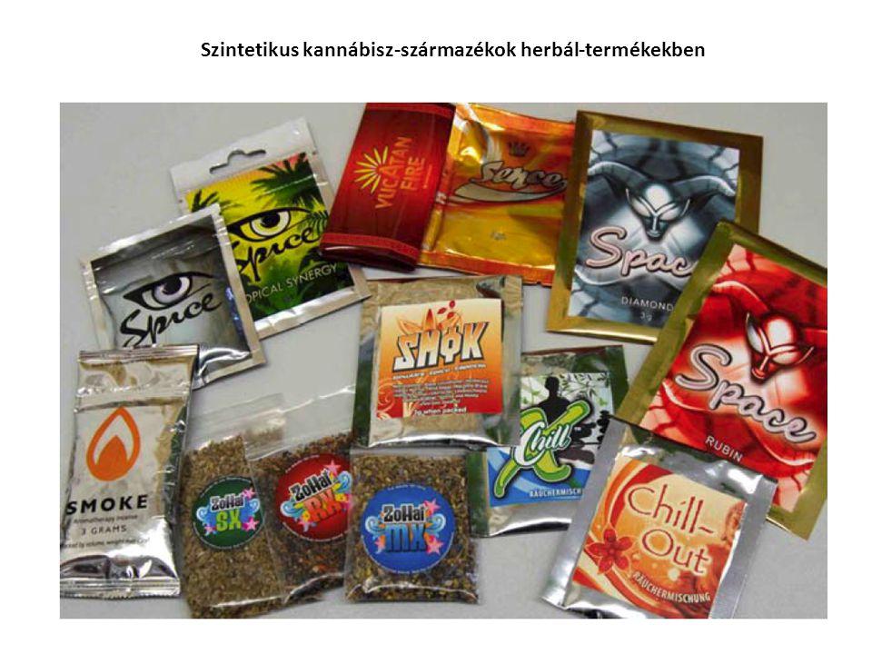 Szintetikus kannábisz-származékok herbál-termékekben