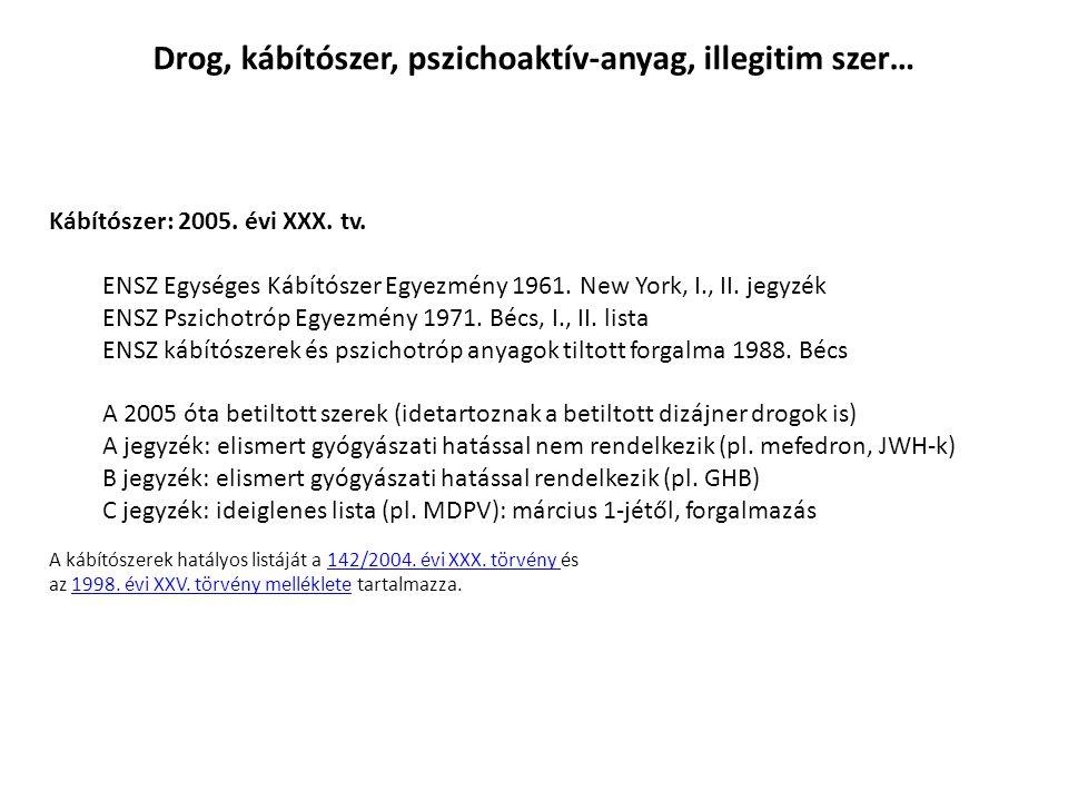 Drog, kábítószer, pszichoaktív-anyag, illegitim szer…