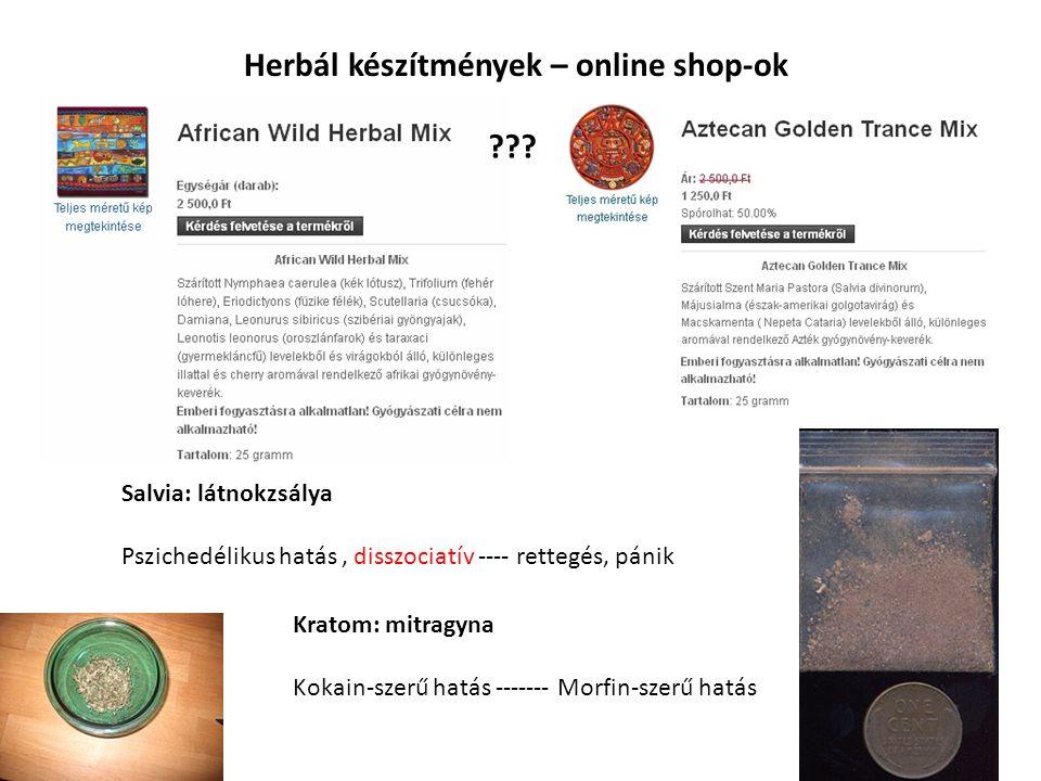 Herbál készítmények – online shop-ok