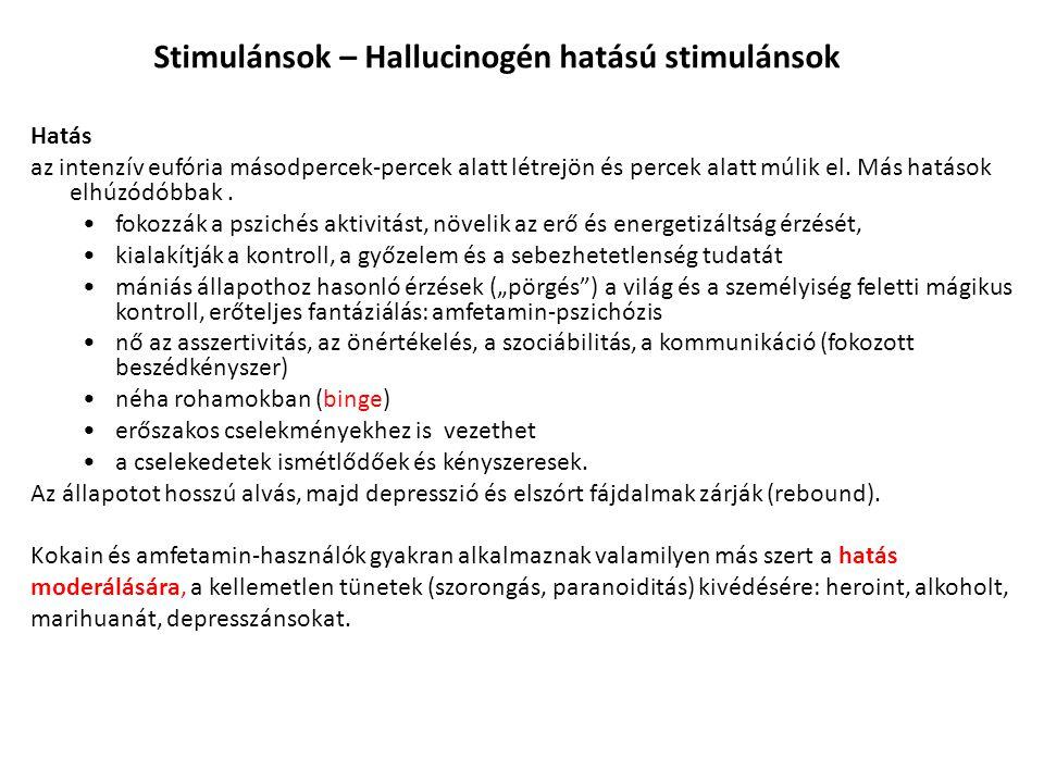 Stimulánsok – Hallucinogén hatású stimulánsok
