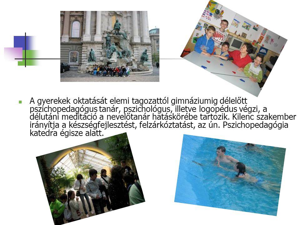 A gyerekek oktatását elemi tagozattól gimnáziumig délelőtt pszichopedagógus tanár, pszichológus, illetve logopédus végzi, a délutáni meditáció a nevelőtanár hatáskörébe tartozik.