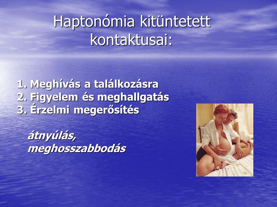 Haptonómia kitüntetett kontaktusai:
