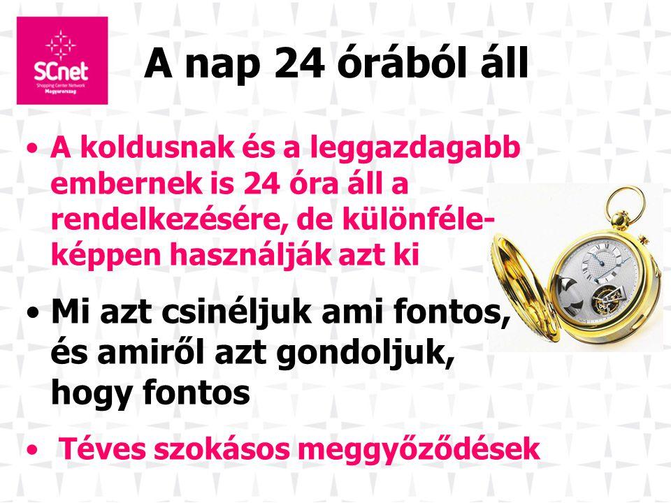 A nap 24 órából áll A koldusnak és a leggazdagabb embernek is 24 óra áll a rendelkezésére, de különféle- képpen használják azt ki.