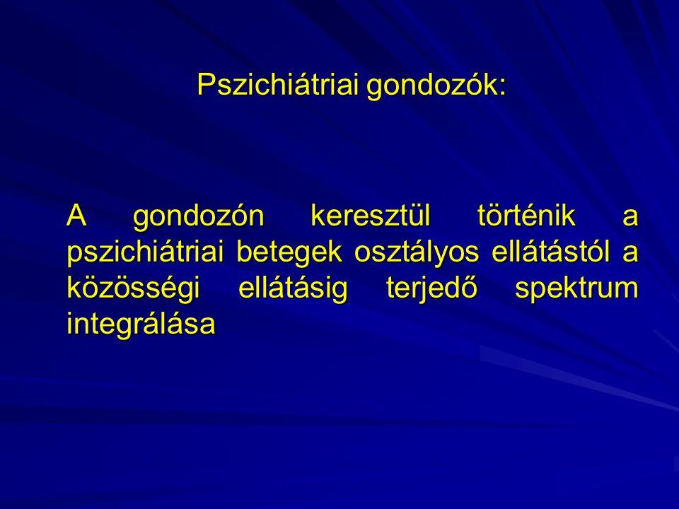 Pszichiátriai gondozók: