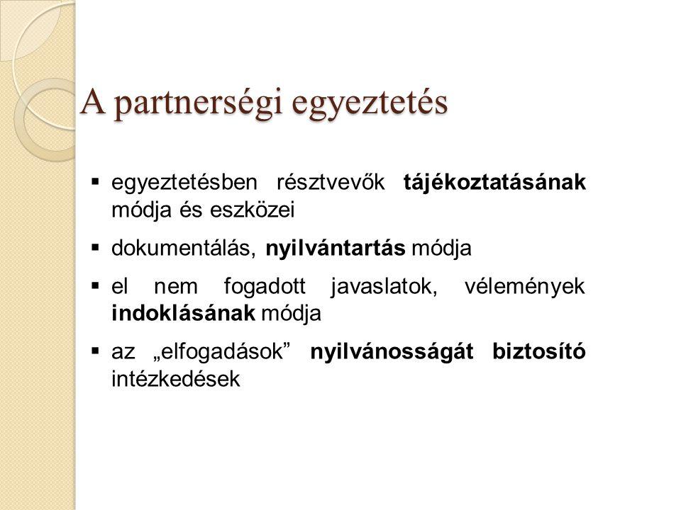 A partnerségi egyeztetés