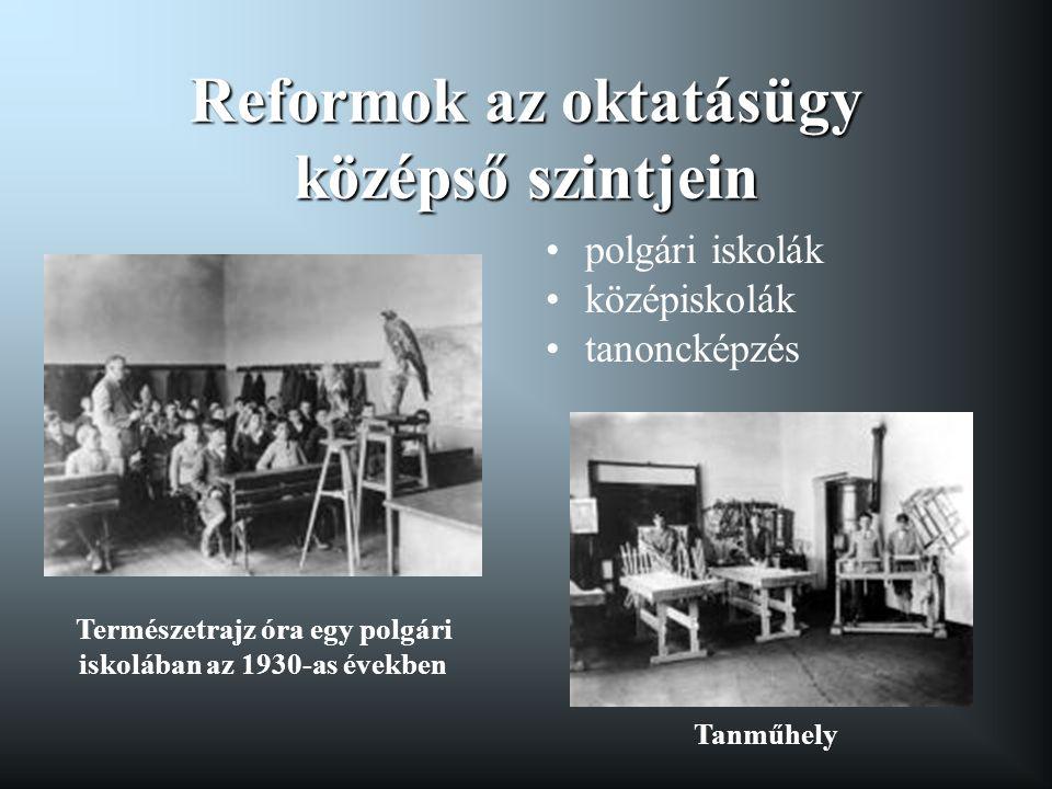 Reformok az oktatásügy középső szintjein