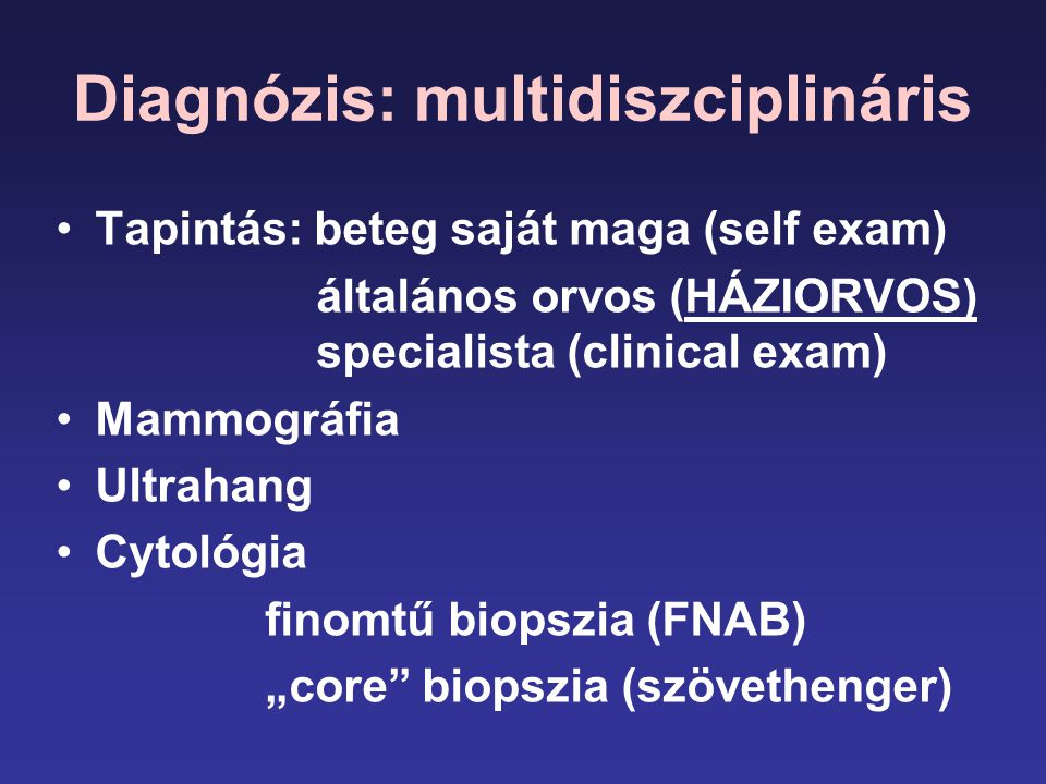 Diagnózis: multidiszciplináris