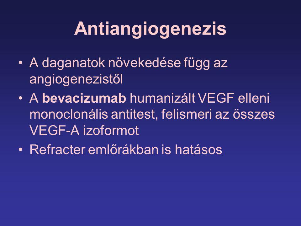 Antiangiogenezis A daganatok növekedése függ az angiogenezistől