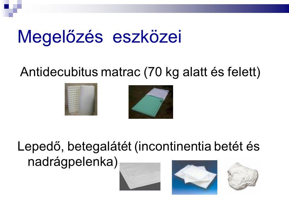 Megelőzés eszközei Antidecubitus matrac (70 kg alatt és felett)