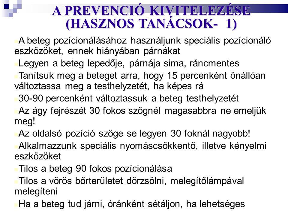 A PREVENCIÓ KIVITELEZÉSE (HASZNOS TANÁCSOK- 1)