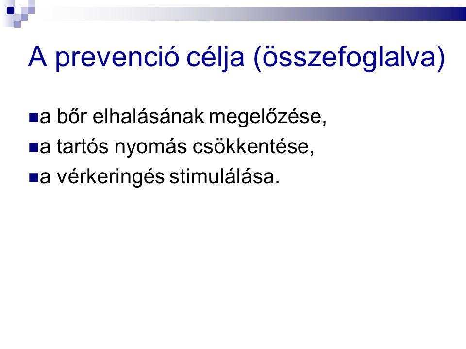 A prevenció célja (összefoglalva)