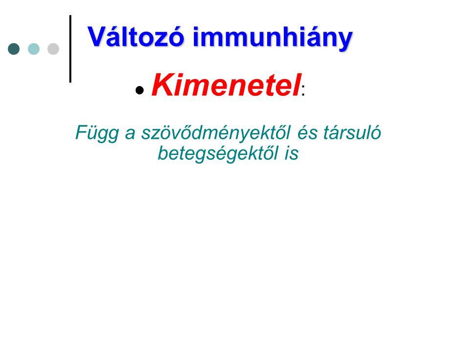 Kimenetel: Függ a szövődményektől és társuló betegségektől is