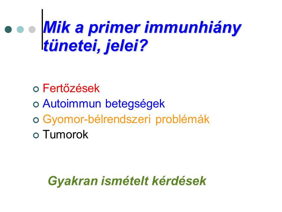 Mik a primer immunhiány tünetei, jelei