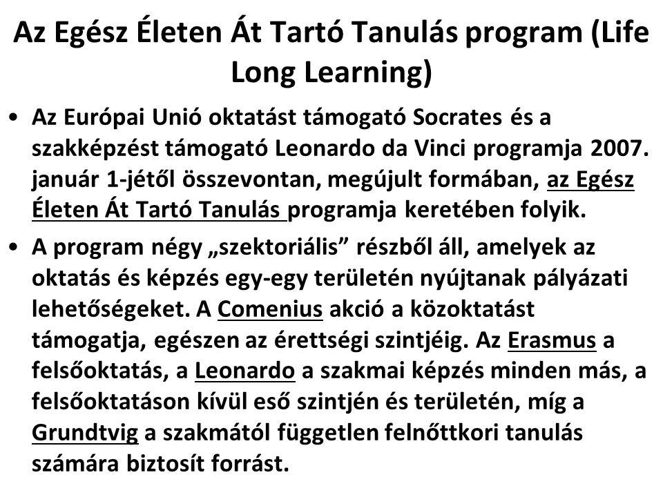 Az Egész Életen Át Tartó Tanulás program (Life Long Learning)
