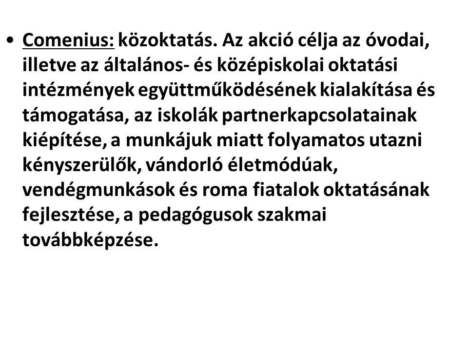 Comenius: közoktatás.
