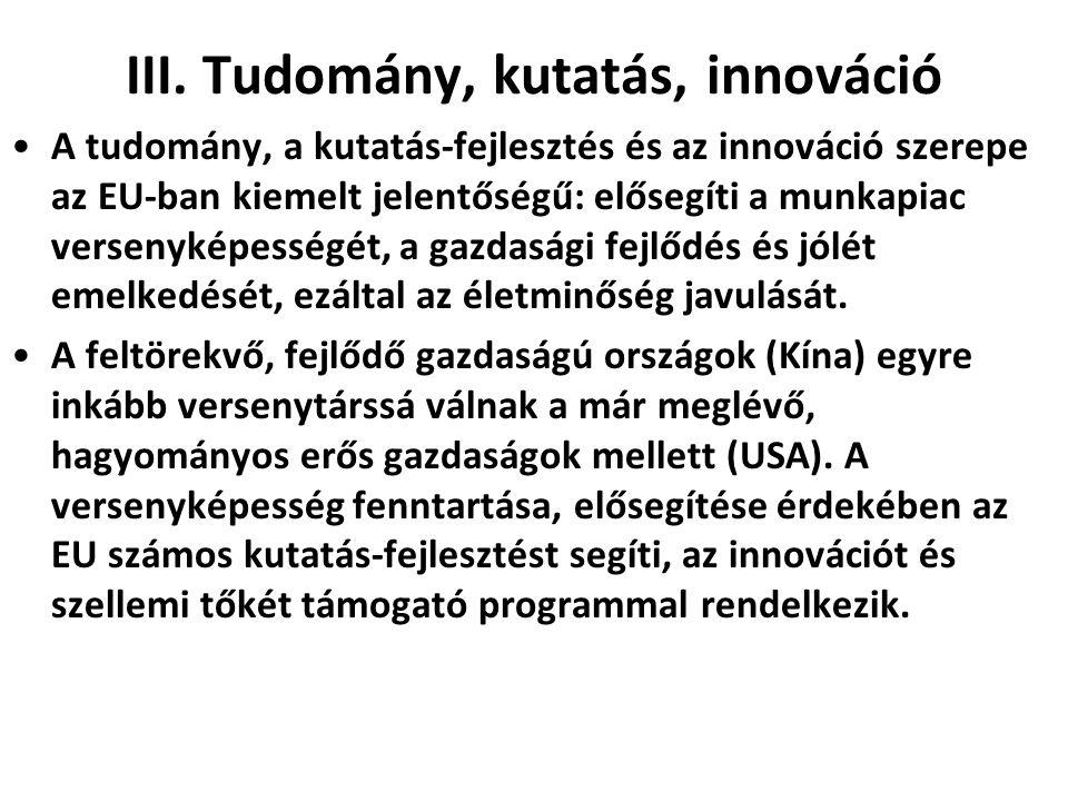 III. Tudomány, kutatás, innováció