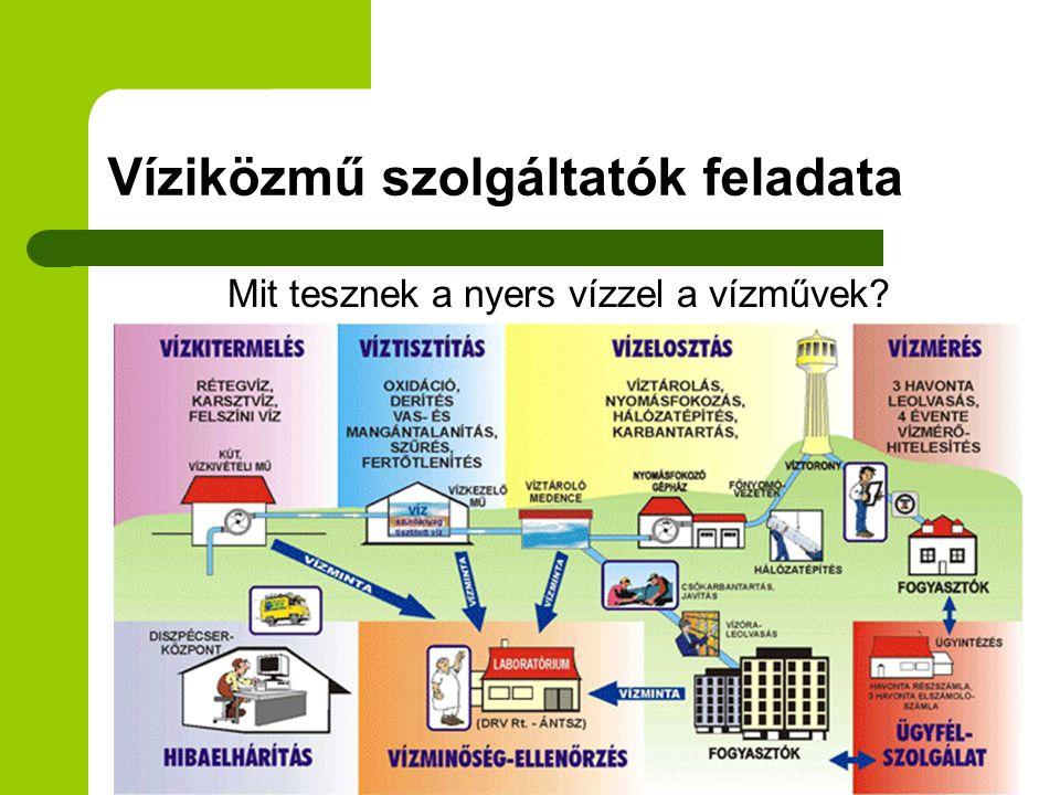 Víziközmű szolgáltatók feladata