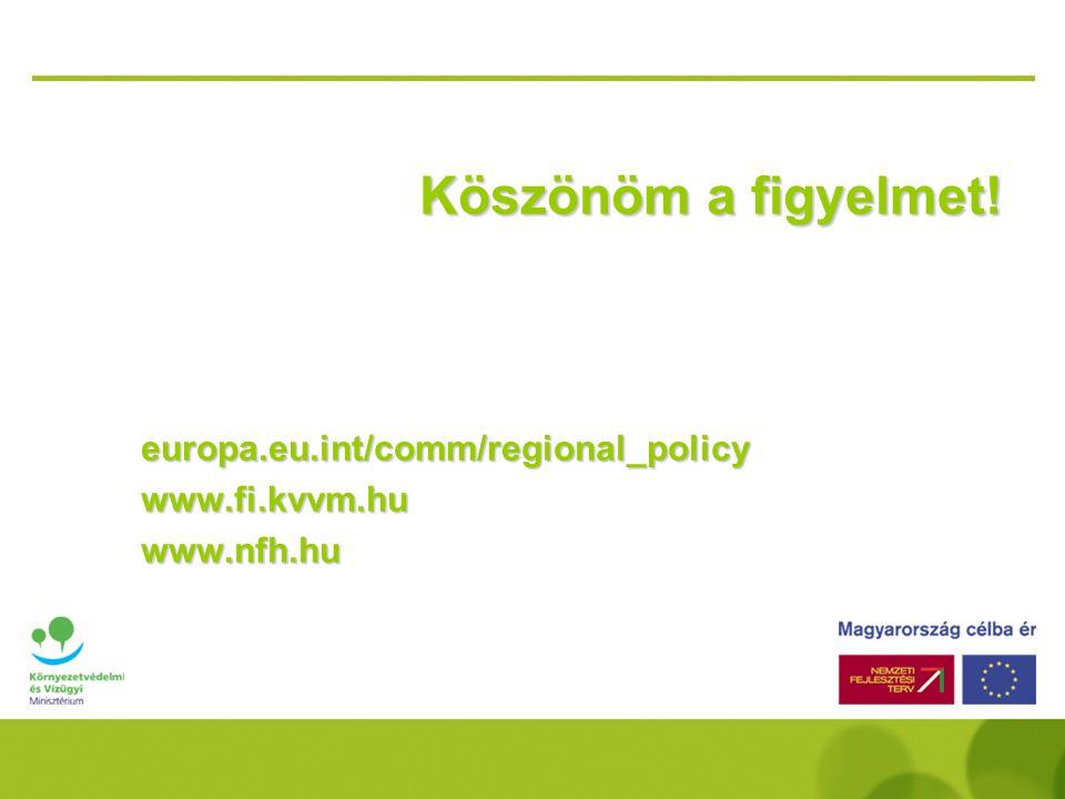 Köszönöm a figyelmet! europa.eu.int/comm/regional_policy