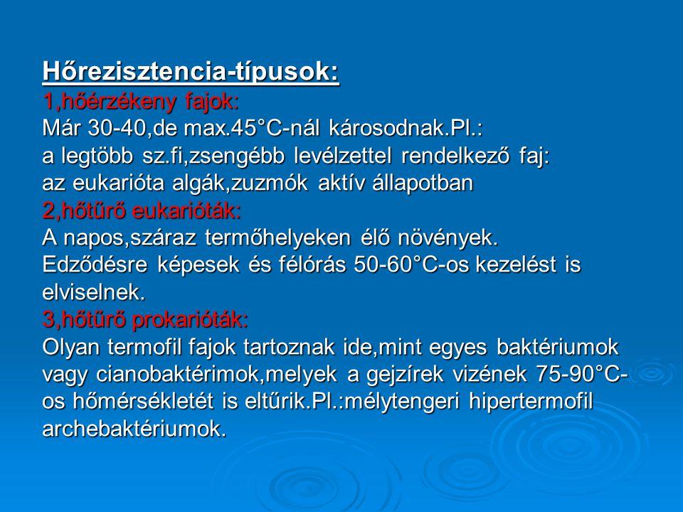 Hőrezisztencia-típusok:
