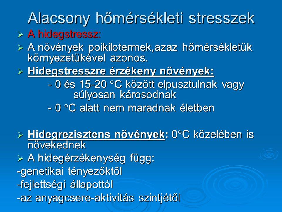 Alacsony hőmérsékleti stresszek
