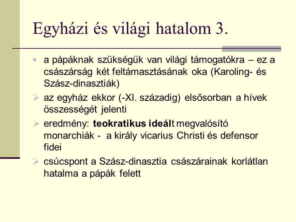 Egyházi és világi hatalom 3.
