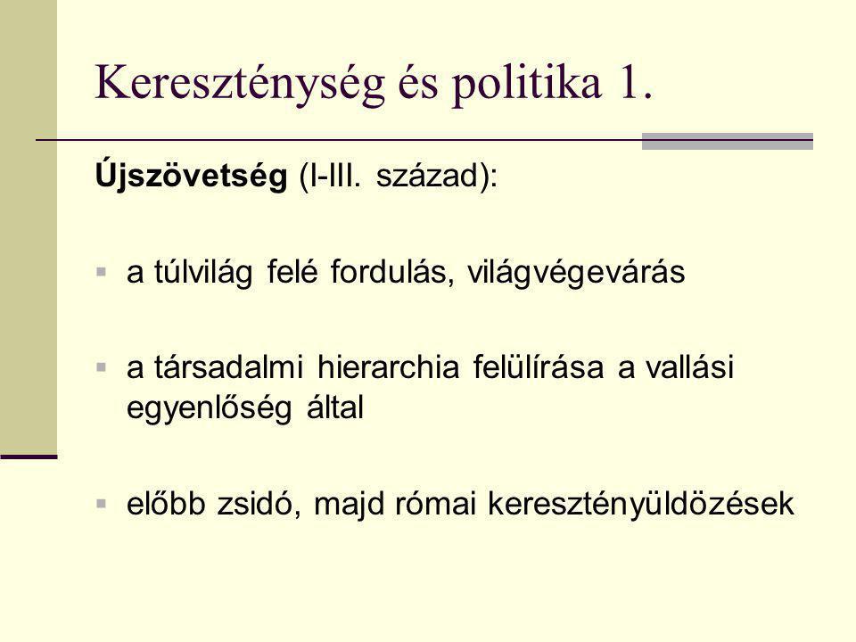 Kereszténység és politika 1.