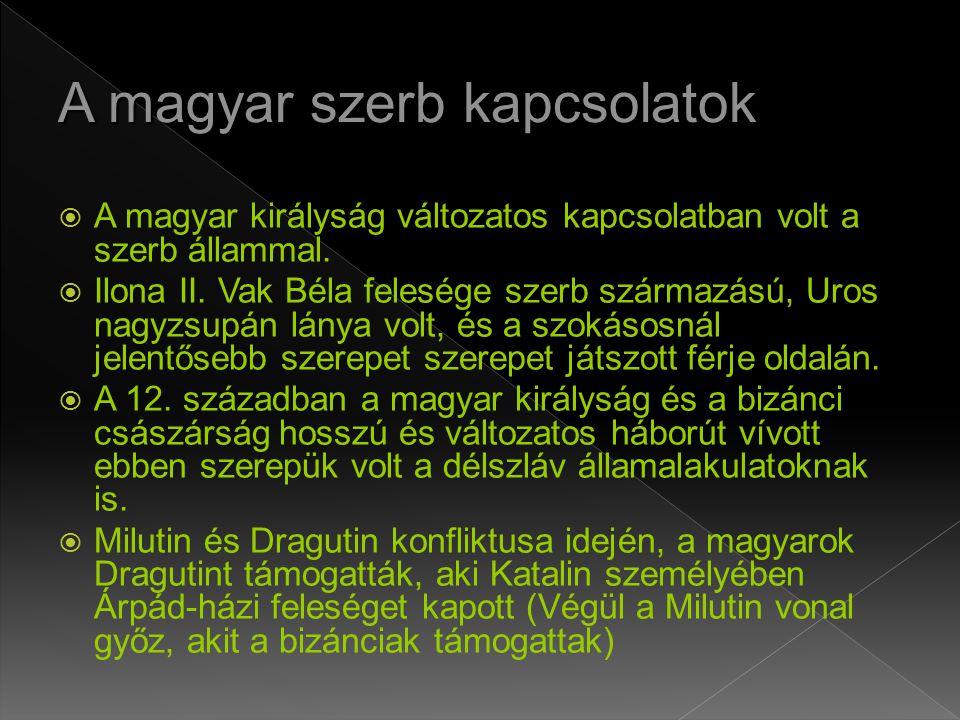 A magyar szerb kapcsolatok