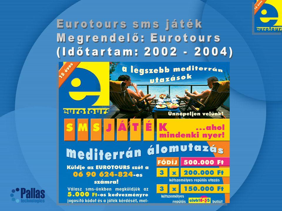 Eurotours sms játék Megrendelő: Eurotours (Időtartam: 2002 - 2004)