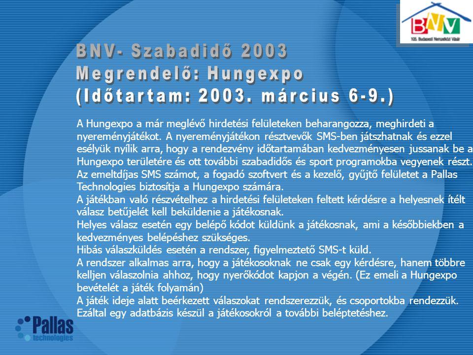 (Időtartam: 2003. március 6-9.)