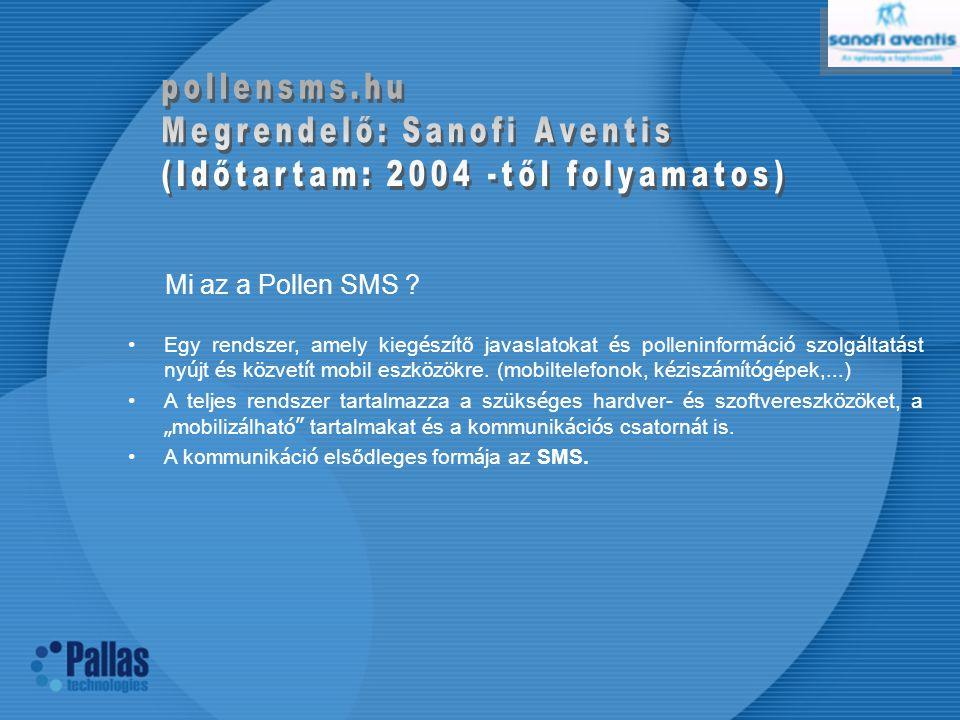 Mi az a Pollen SMS pollensms.hu Megrendelő: Sanofi Aventis