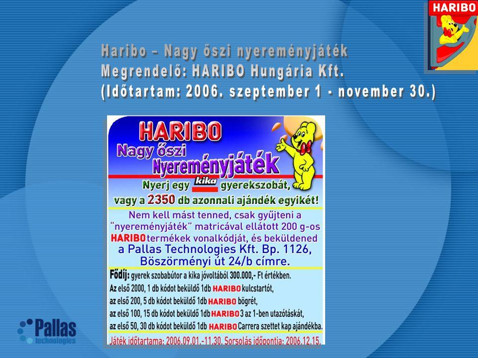 Haribo – Nagy őszi nyereményjáték