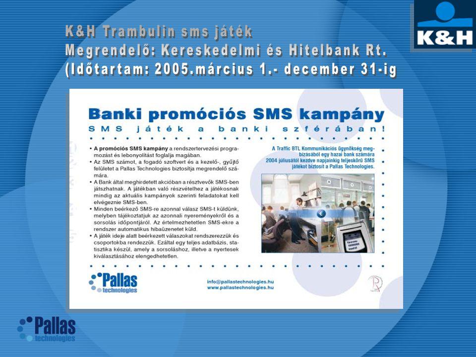 K&H Trambulin sms játék