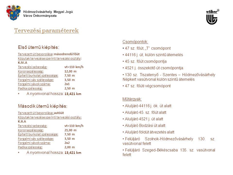 Tervezési paraméterek