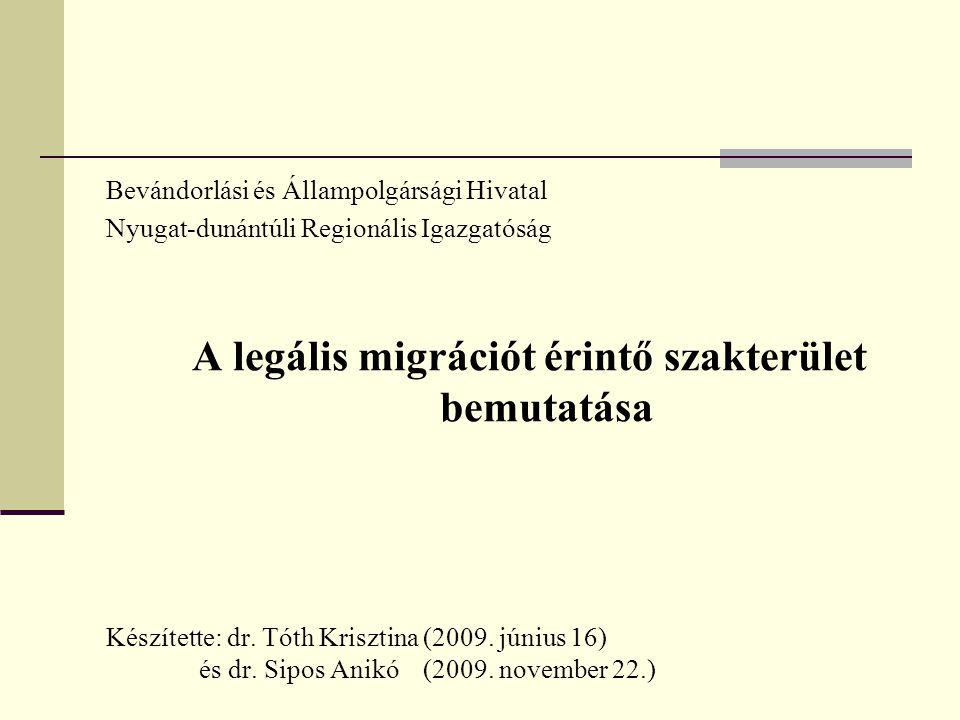 A legális migrációt érintő szakterület bemutatása
