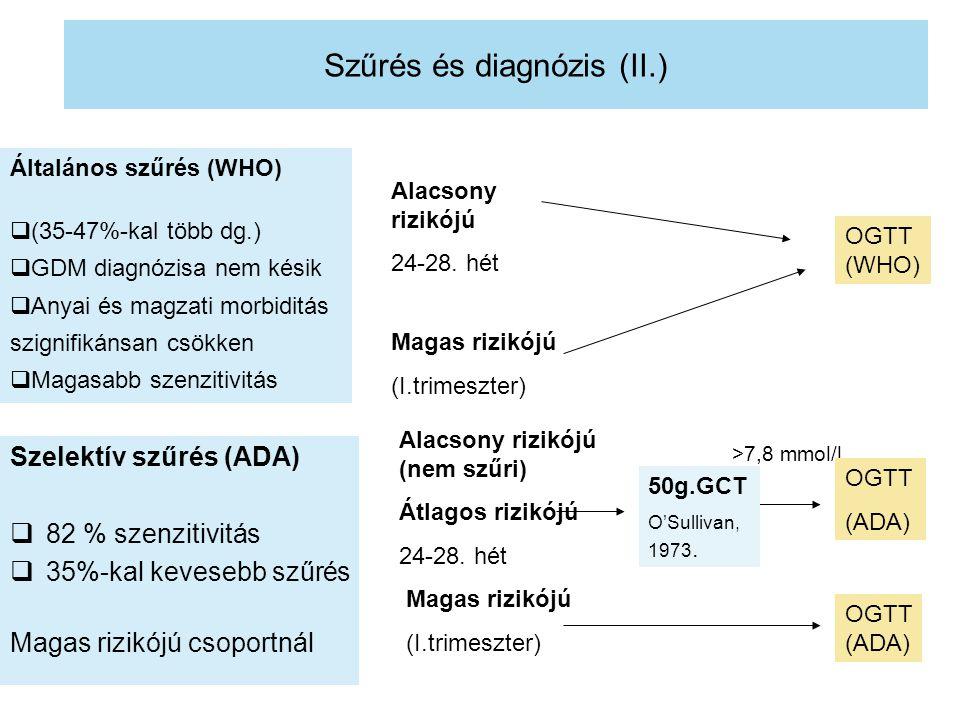 Szűrés és diagnózis (II.)
