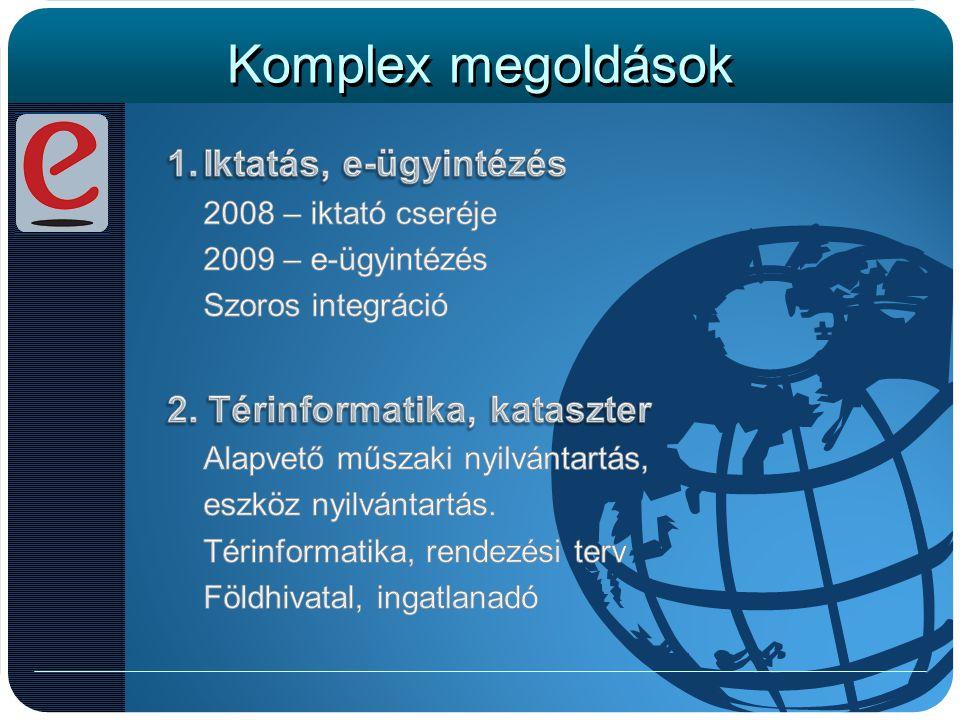 Komplex megoldások Iktatás, e-ügyintézés 2. Térinformatika, kataszter