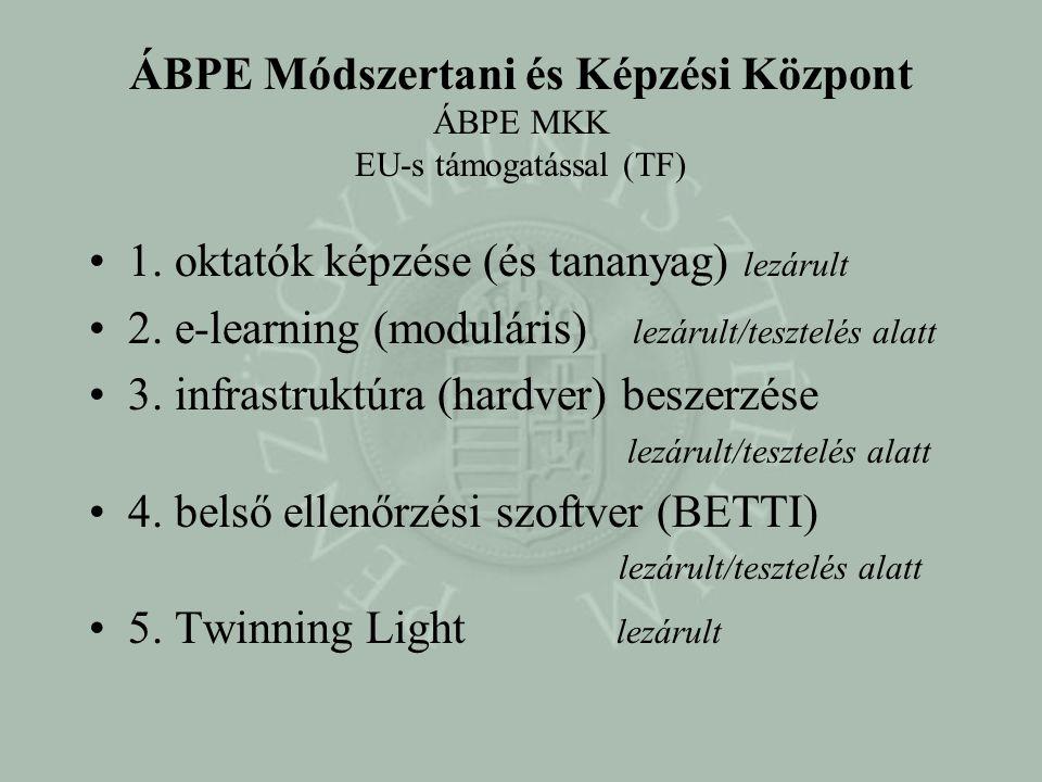 ÁBPE Módszertani és Képzési Központ ÁBPE MKK EU-s támogatással (TF)