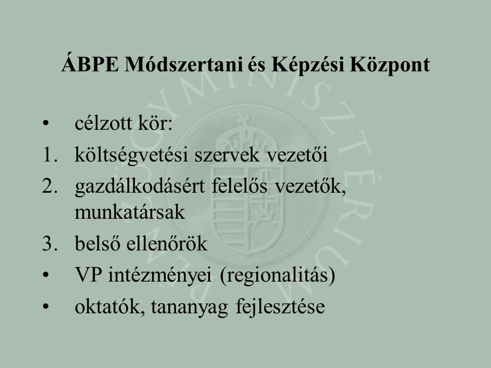 ÁBPE Módszertani és Képzési Központ