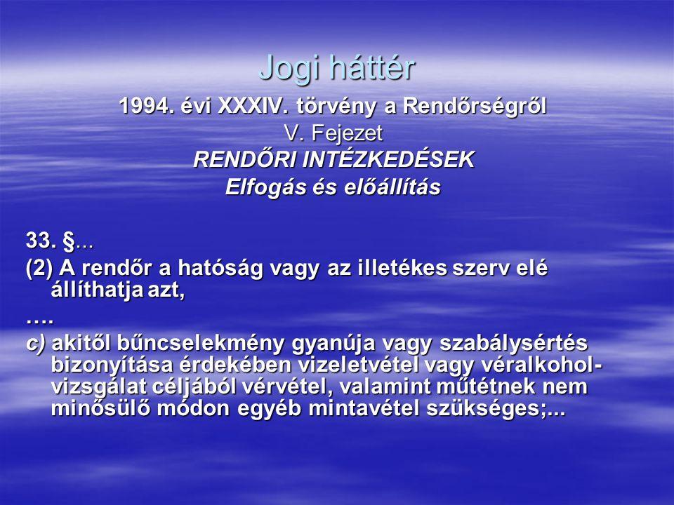 1994. évi XXXIV. törvény a Rendőrségről