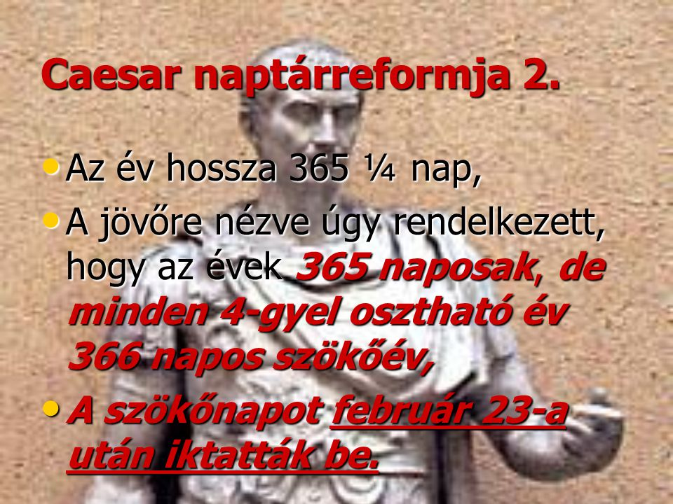Caesar naptárreformja 2.