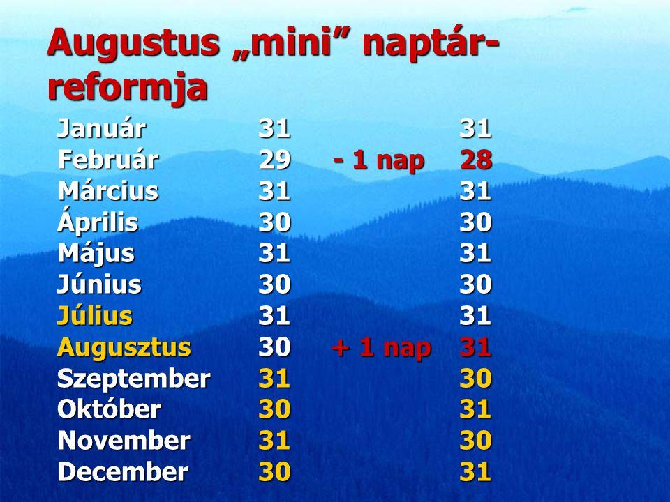 "Augustus ""mini naptár-reformja"