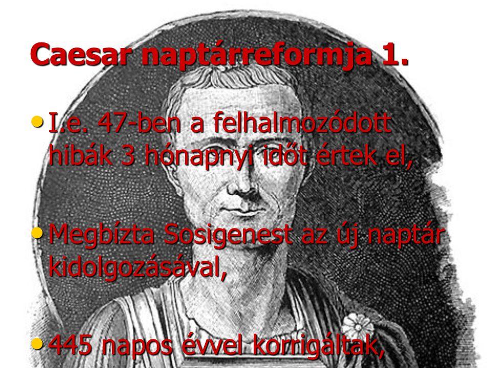 Caesar naptárreformja 1.