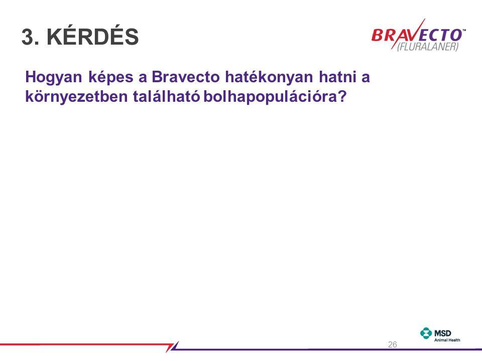 3. KÉRDÉS Hogyan képes a Bravecto hatékonyan hatni a környezetben található bolhapopulációra