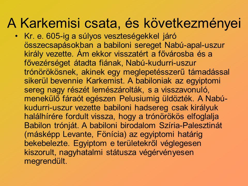 A Karkemisi csata, és következményei
