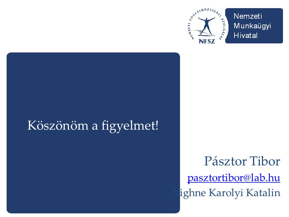 Köszönöm a figyelmet! Pásztor Tibor pasztortibor@lab.hu