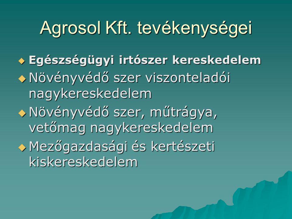 Agrosol Kft. tevékenységei