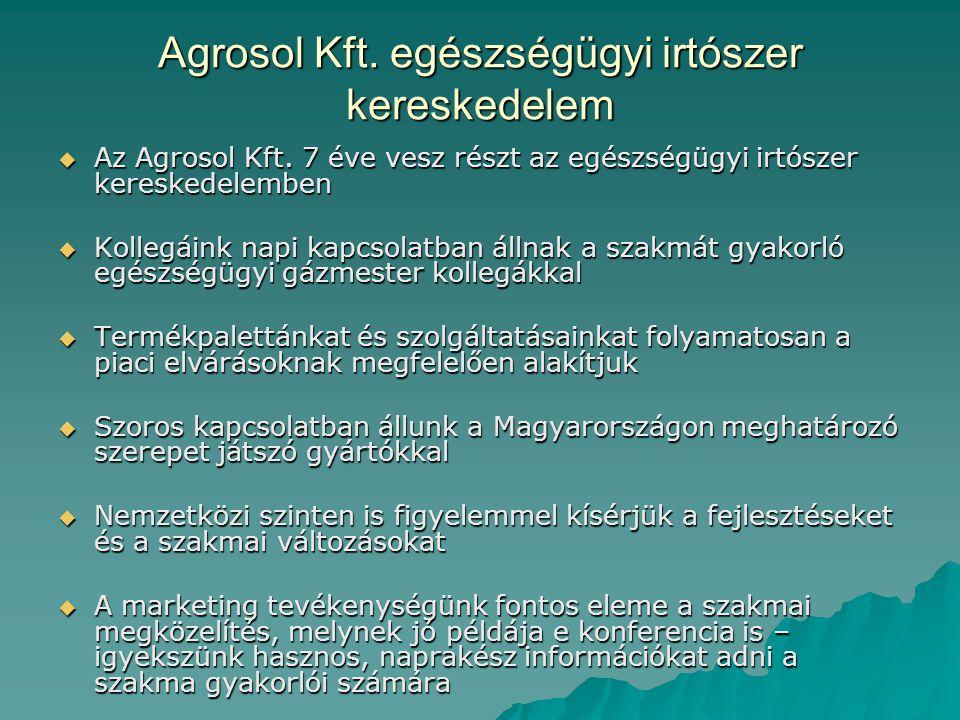 Agrosol Kft. egészségügyi irtószer kereskedelem